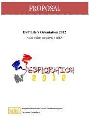 proposal Esploration 2012 - hima esp fe unpad - Universitas ...