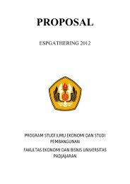 proposal gathering 2012 - hima esp fe unpad - Universitas ...