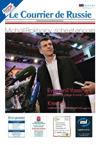 Michaïl Prokhorov : riche et encore