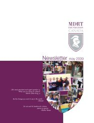 Newsletter may 2009 - MDRT Foundation Canada