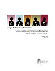 Gang & Youth Violence Interventions - DSHS