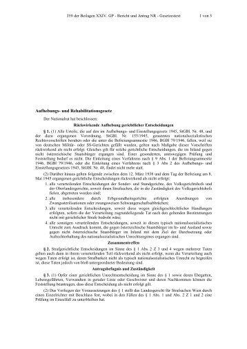 Aufhebungs- und Rehabilitationsgesetz