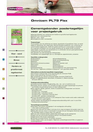 Omnicem PL79 Flex - Omnicol