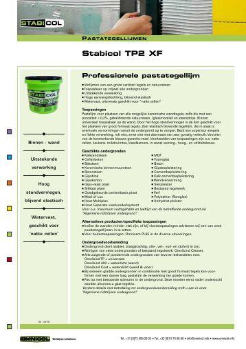 Stabicol TP2 XF - Omnicol