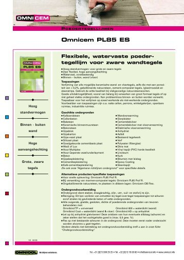 Omnicem PL85 ES - Omnicol