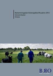 Toelichting - Gemeente Rucphen