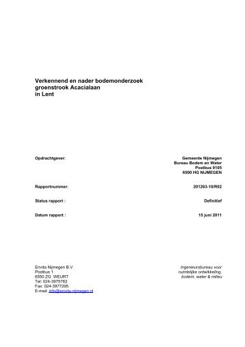 Bijlage bodemonderzoeken - Gemeente Nijmegen
