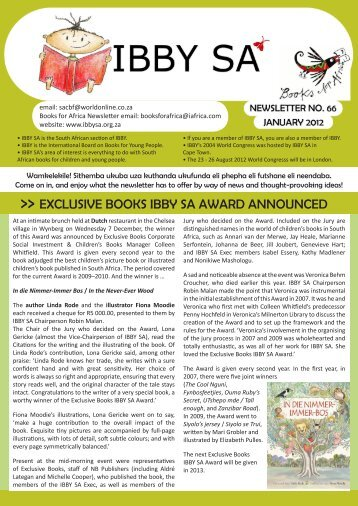 Page 1 email: sacbf@worldonline.co.za Books for Africa Newsletter ...