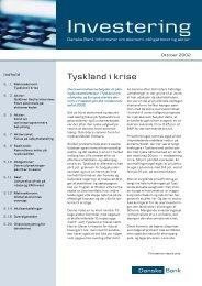 Investering - oktober 2002 - Danske Bank