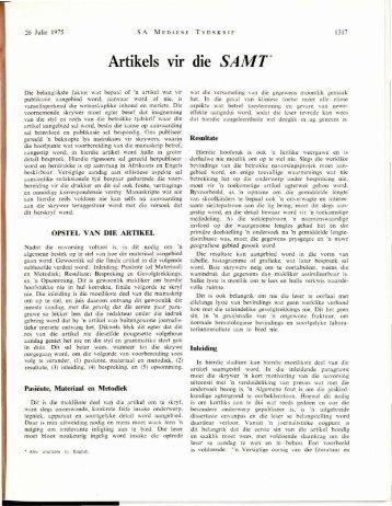 Artikels - SAMJ Archive Browser