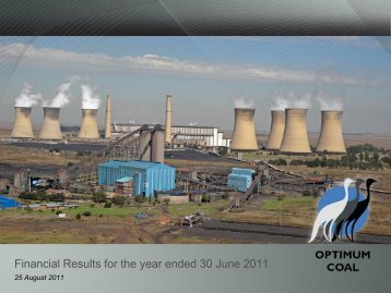 Financial Results for the year ended 30 June 2011 - Optimum Coal