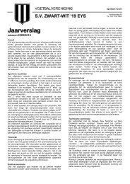 Jaarverslag - SV Zwart-Wit