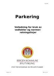Parkering - veiledning for bruk av vedtekter og normer - Lokal ...
