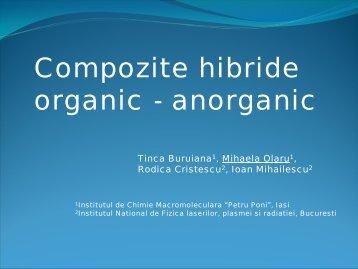 Compozite hibride organic - anorganic