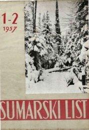 ŠUMARSKI LIST 1-2/1957