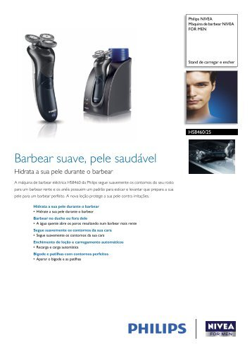 HS8460/25 Philips Máquina de barbear NIVEA FOR MEN