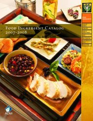 Food Ingredient Catalog 2007-2008 - Food Product Design