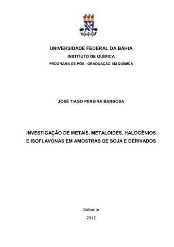 Tese - José Tiago P. Barbosa - Versão Digital.pdf - RI UFBA ...