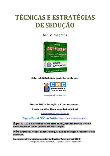 TÉCNICAS E ESTRATÉGIAS DE SEDUÇÃO - Portal CMC ...
