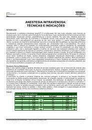 anestesia intravenosa - Sociedade Brasileira de Anestesiologia