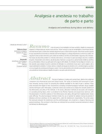 Analgesia e anestesia no trabalho de parto e parto - Febrasgo
