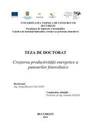 Teza doctorat - Facultatea de Instalatii - Universitatea Tehnică de ...