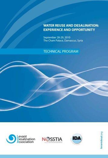 View Technical Program - Levant Desalination Association