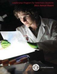 Leadership Program for Veterinary Students 2011 Annual Report