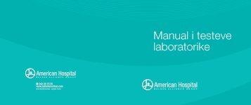 Manuali i testeve laboratorike - Spitali Amerikan - Spitaliamerikan.com