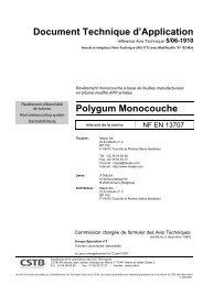 Document Technique d'Application Polygum Monocouche - CSTB
