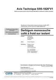 Avis Technique 5/05-1826*V1 Derbigum monocouche collé ... - CSTB