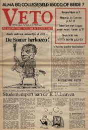 Studentensport aan de K.U-.Leuven - Veto
