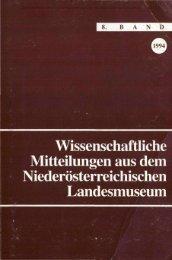 Wissenschaftliche Mitteilungen aus dem Niederösterreichischen ...