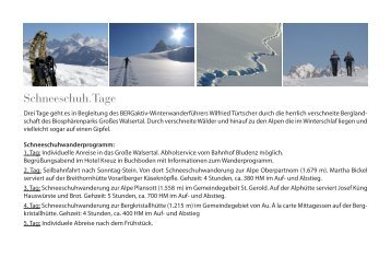 """Schneeschuh.Tage"", Großes Walsertal (PDF ... - Bergsteigerdörfer"