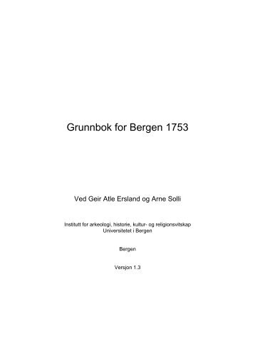 Grunnbok for Bergen 1753 - Universitetet i Bergen