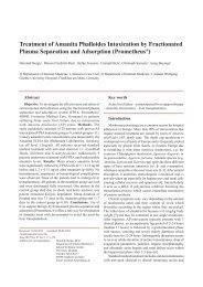 Treatment of Amanita Phalloides Intoxication by Fractionated ...