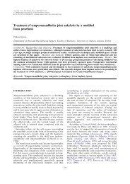 Treatment of temporomandibular joint ankylosis by a modified fossa ...