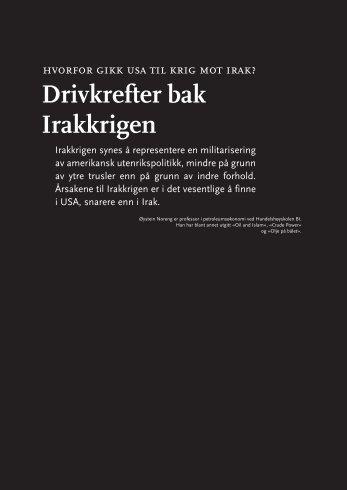 """Noreng, Øystein: """"Drivkrefter bak Irakkrigen"""""""