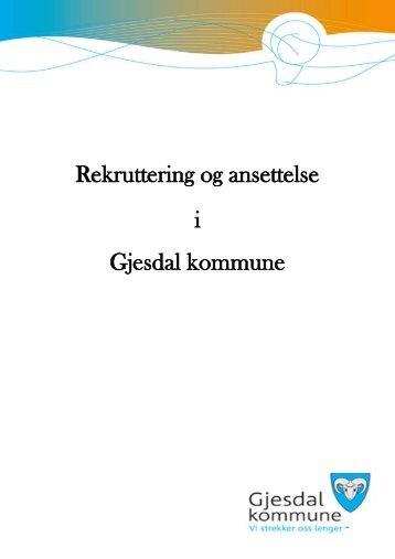 Ansettelseshåndbok - Gjesdal kommune