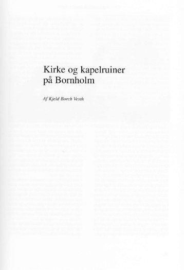Kirke og kapelruiner på Bornholm - Bornholms Historiske Samfund
