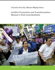 Conflict Prevention and Transformation: Women's Vital ... - Aletta