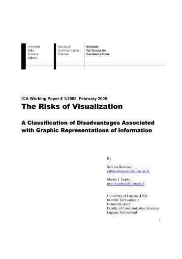 The Risks of Visualization - Knowledge Communication