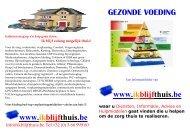www.ikblijfthuis.be GEZONDE VOEDING www.ikblijfthuis.be