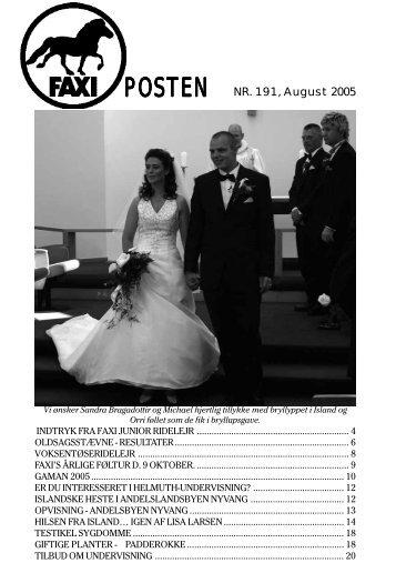Faxiposten nr. 191 - Faxi-klubben