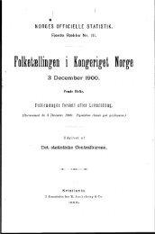 Folketællingen i Kongeriget Norge 3 December 1900 Femte ... - SSB