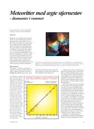 Meteoritter med ægte stjernestøv - diamanter i rummet