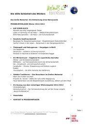 Presseinformation Winter 2012/2013 (144 KB) - .PDF