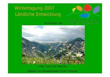 Wintertagung 2007 Ländliche Entwicklung