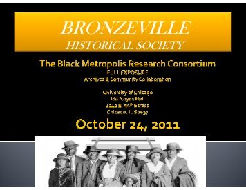 Sherry Williams, Bronzeville Historical Society - Black Metropolis ...