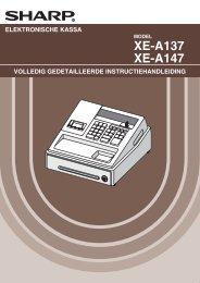Sharp XE-A147 handleiding